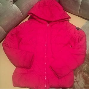Abercrombie Girls Raspberry Colored Puffer Coat
